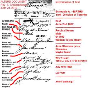Percival Hearn_Birth_YorkToronto1892_altered